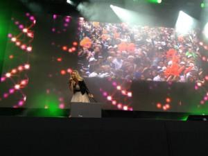 Aneta auf der Bühne 3